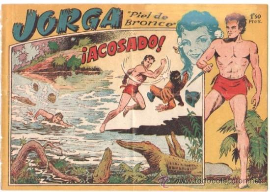 JORGA PIEL DE BRONCE 1ª Nº 4 , EDI. RICART 1954 , ORIGINAL - POR FERRANDO (Tebeos y Comics - Ricart - Jorga)