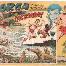 Tebeos: JORGA PIEL DE BRONCE 1ª Nº 4 , EDI. RICART 1954 , ORIGINAL - POR FERRANDO. Lote 37081349