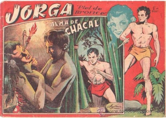 JORGA PIEL DE BRONCE 1ª Nº 3 , EDI. RICART 1954 , ORIGINAL - POR FERRANDO (Tebeos y Comics - Ricart - Jorga)