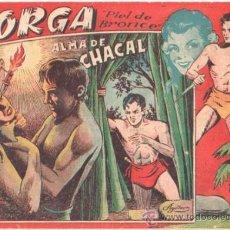 Tebeos: JORGA PIEL DE BRONCE 1ª Nº 3 , EDI. RICART 1954 , ORIGINAL - POR FERRANDO. Lote 37081380
