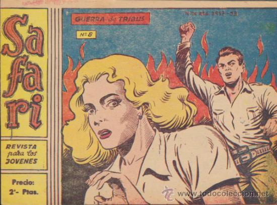 SAFARI Nº 8. (Tebeos y Comics - Ricart - Safari)