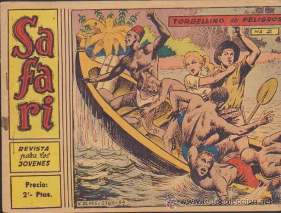 SAFARI Nº 2. (Tebeos y Comics - Ricart - Safari)