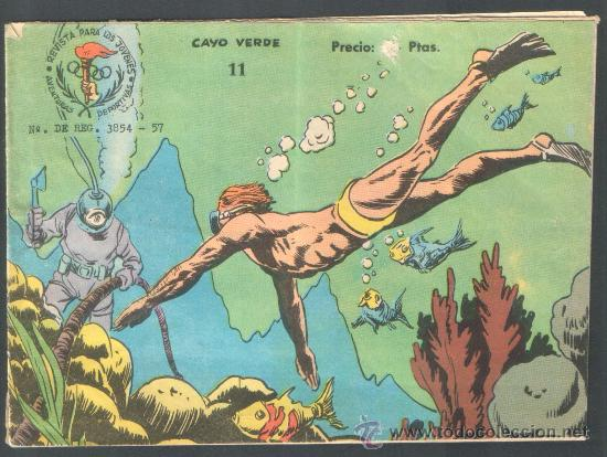 ** CAYO VERDE ** AÑO 1963 - AVENTURAS DEPORTIVAS - RICART - ORIGINAL (Tebeos y Comics - Ricart - Aventuras Deportivas)