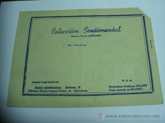Tebeos: CUENTOS PARA NIÑAS - SENTIMENTAL / LOTE DE 9 NÚMEROS / RICART ORIGINAL - Foto 9 - 38454539