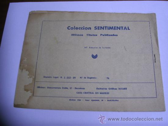 Tebeos: CUENTOS PARA NIÑAS - SENTIMENTAL / LOTE DE 9 NÚMEROS / RICART ORIGINAL - Foto 17 - 38454539