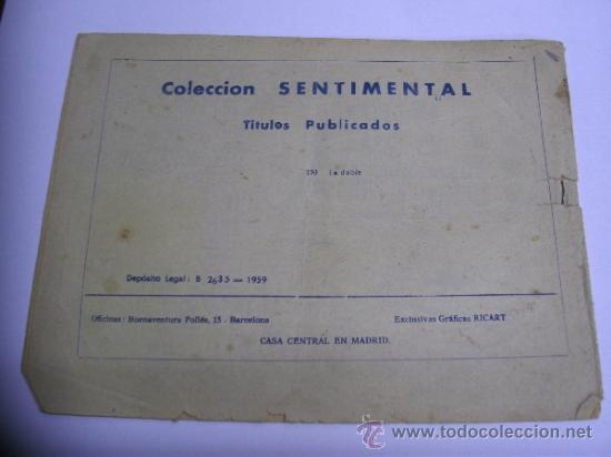 Tebeos: CUENTOS PARA NIÑAS - SENTIMENTAL / LOTE DE 9 NÚMEROS / RICART ORIGINAL - Foto 7 - 38454539