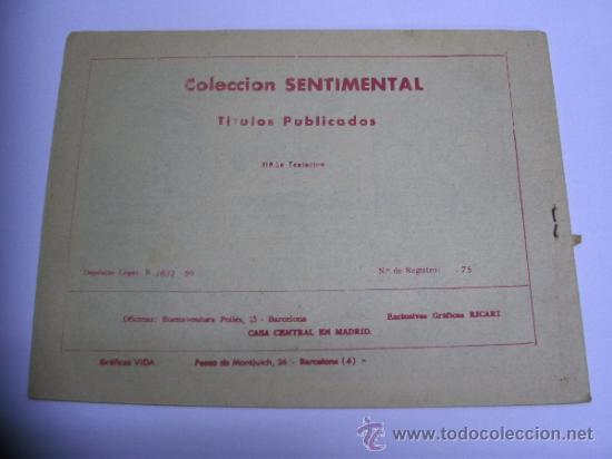 Tebeos: CUENTOS PARA NIÑAS - SENTIMENTAL / LOTE DE 9 NÚMEROS / RICART ORIGINAL - Foto 11 - 38454539