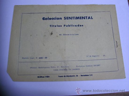 Tebeos: CUENTOS PARA NIÑAS - SENTIMENTAL / LOTE DE 9 NÚMEROS / RICART ORIGINAL - Foto 13 - 38454539