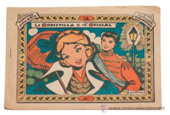COLECCIÓN GOLONDRINA / LA MODISTILLA Y EL OFICIAL 1959 (Tebeos y Comics - Ricart - Golondrina)