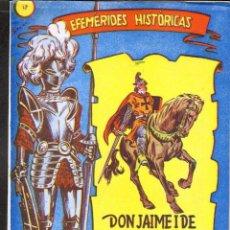 Tebeos: TEBEOS-COMICS GOYO - EFEMERIDES HISTORICAS - Nº 17 - RICART - 1958 - MUY DIFICIL - *BB99. Lote 40805003