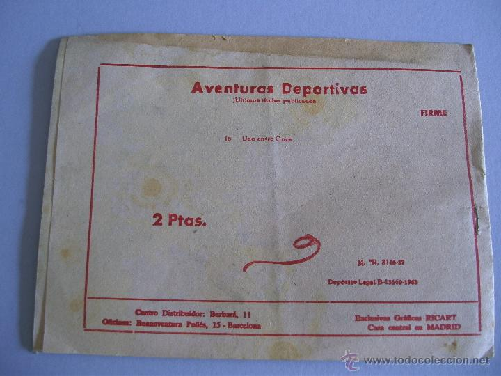 Tebeos: aventuras deportivas - uno entre once - nº10 - ricart (2pts) - 1963 - Foto 2 - 41498425