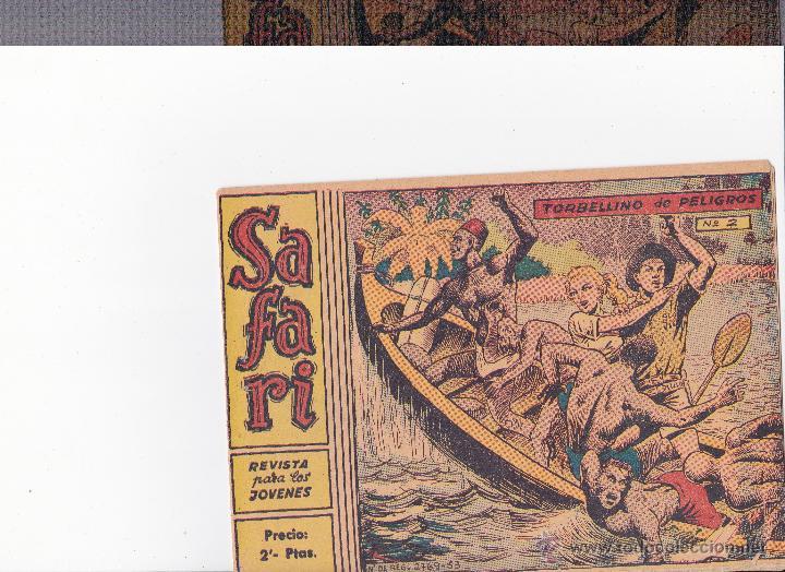 SAFARI,TORBELLINO DE PELIGROS Nº2 (Tebeos y Comics - Ricart - Safari)