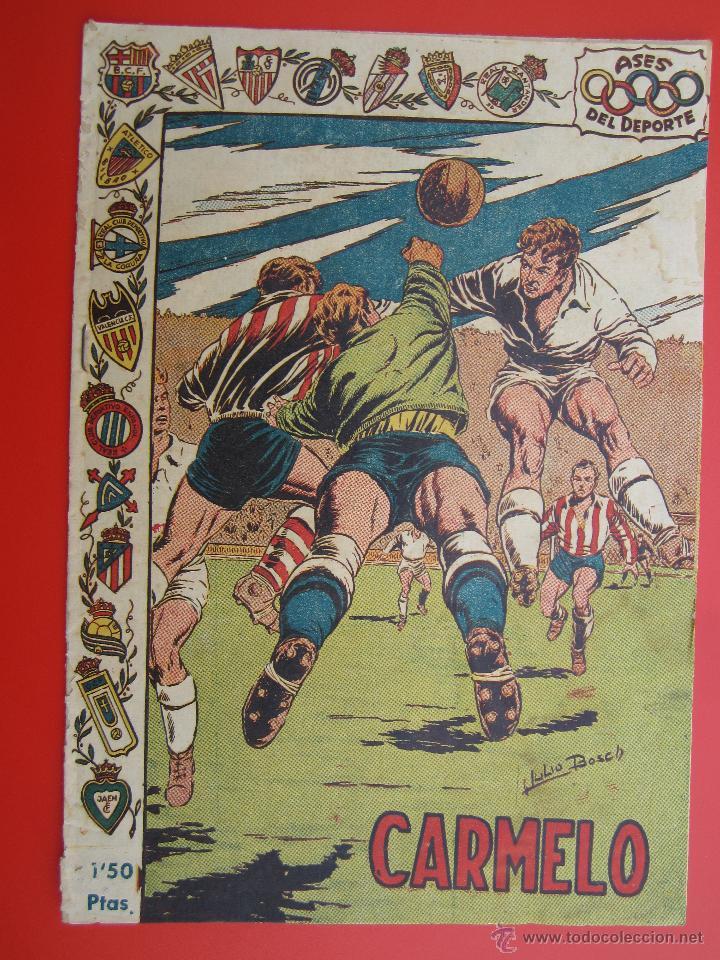 ASES DEL DEPORTE , NUMERO 12 CARMELO PORTERO ATLETICO DE BILBAO - RICART 1954 (Tebeos y Comics - Ricart - Otros)