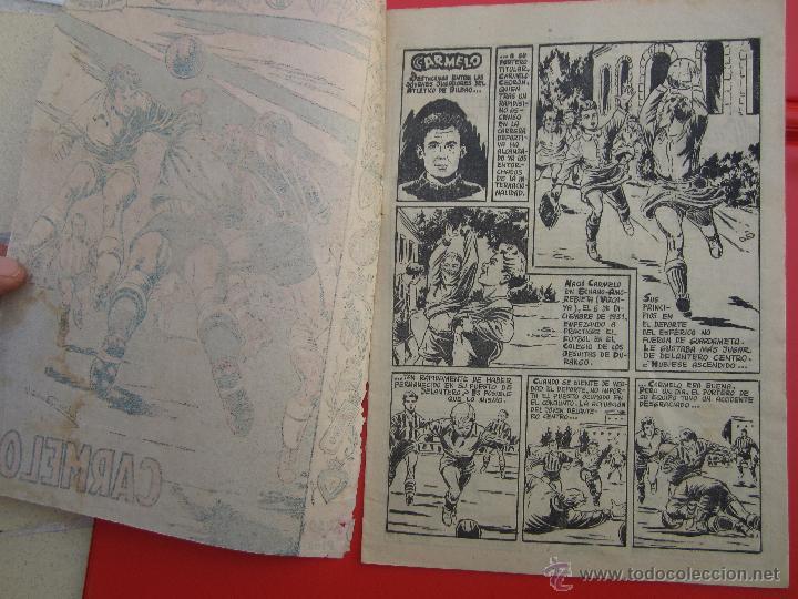Tebeos: ases del deporte , numero 12 CARMELO portero atletico de bilbao - ricart 1954 - Foto 2 - 43251863