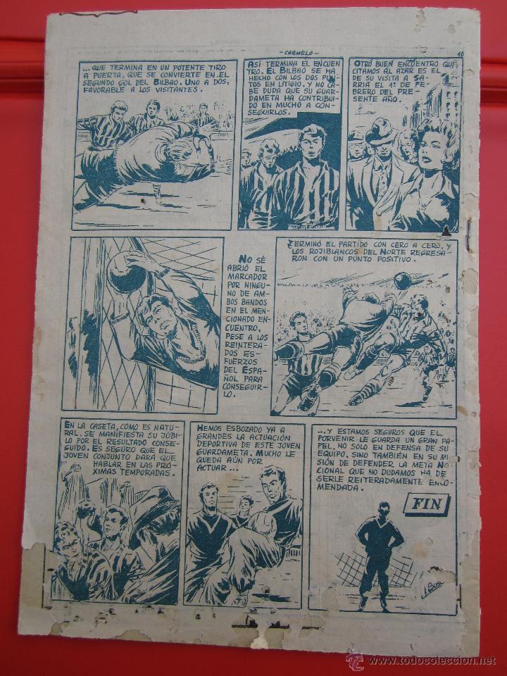 Tebeos: ases del deporte , numero 12 CARMELO portero atletico de bilbao - ricart 1954 - Foto 3 - 43251863