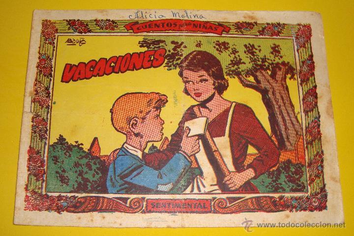 CUENTOS PARA NIÑAS Nº ? COLECCIÓN SENTIMENTAL VACACIONES RICART 1959 (Tebeos y Comics - Ricart - Sentimental)