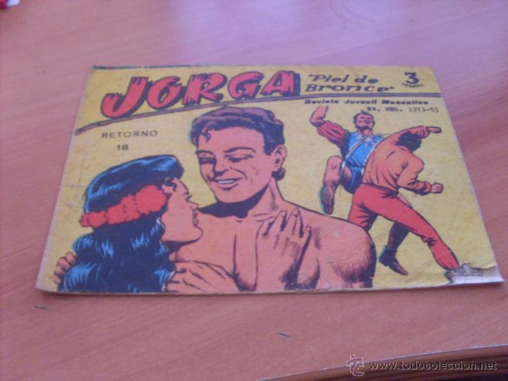 JORGA PIELDE BRONCE Nº 18 ULTIMO (ORIGINAL ED. RICART 3 PESETAS) (COI12) (Tebeos y Comics - Ricart - Jorga)