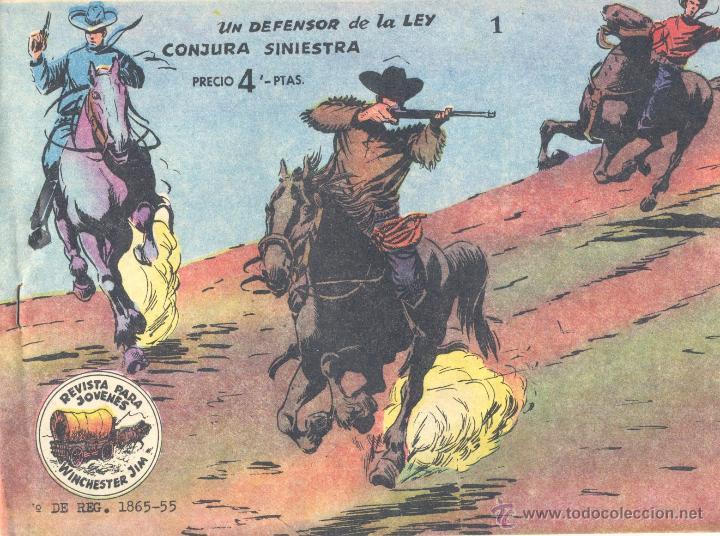 WINCHESTER JIM Nº1 (DE 4 PTAS). RICART, 1963. CONTIENE LAS DOS PRIMERAS AVENTURAS. SIN ABRIR (Tebeos y Comics - Ricart - Otros)