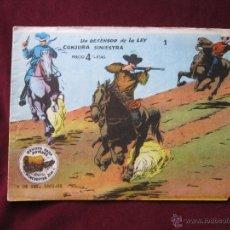 Tebeos: WINCHESTER JIM Nº 1. UN DEFENSOR DE LA LEY. CONJURA SINIESTRA ORIGINAL ED. RICART 1963. 4 PTS. Lote 48587602