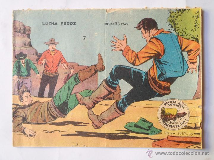 WINCHESTER JIM - NÚM 7 - LUCHA FEROZ - GRÁFICAS RICART- ORIGINAL (Tebeos y Comics - Ricart - Otros)