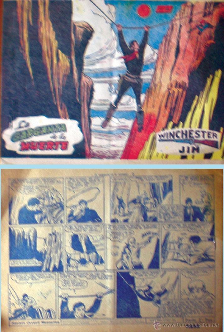 WINCHESTER JIM - Nº 18 - LA GARGANTA DE LA MUERTE - RICART - ORIGINAL - AÑO 1955 (Tebeos y Comics - Ricart - Otros)