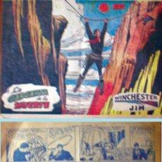 Tebeos: WINCHESTER JIM - Nº 18 - LA GARGANTA DE LA MUERTE - RICART - ORIGINAL - AÑO 1955. Lote 49047262