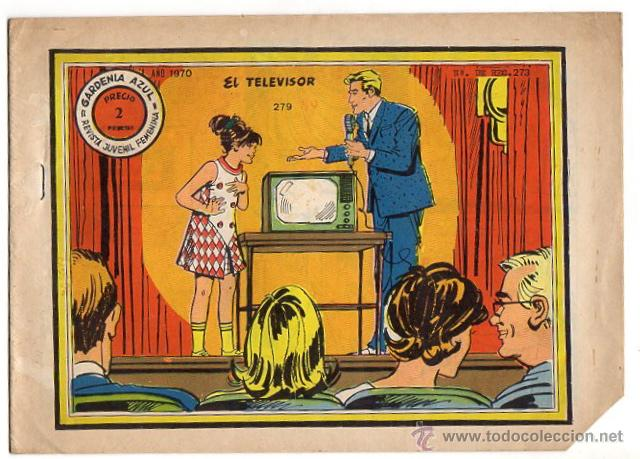 REVISTA JUVENIL FEMENINA GARDENIA AZUL. EL TELEVISOR. Nº 279 (Tebeos y Comics - Ricart - Otros)