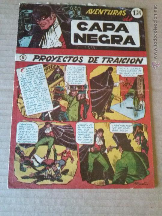 AVENTURAS DE CAPA NEGRA - Nº 9 - RICART -T (Tebeos y Comics - Ricart - Otros)