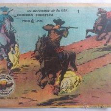 Tebeos: TEBEO - WINCHESTER JIM - UN DEFENSOR DE LA LEY, Nº 1, CONJURA SINIESTRA. Lote 51701727