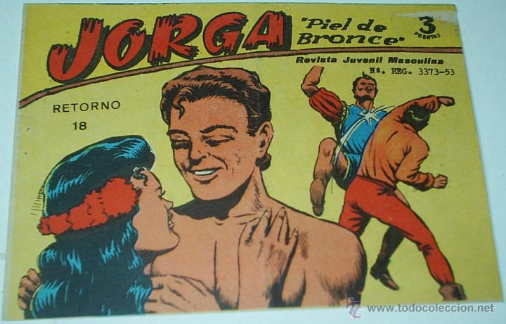 JORGA Nº 18 Y ÚLTIMO - RICART 1963- ORIGINAL MUY COMPLICADO - LEER (Tebeos y Comics - Ricart - Jorga)