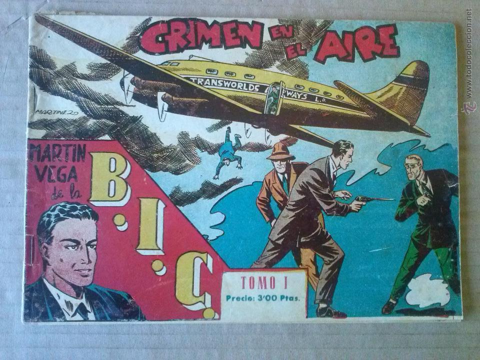 MARTIN VEGA DE LA B.I.C. TOMO Nº 1- COL DE 4 NºS - RICART , ORIGINAL - DE 3 PTAS- TA (Tebeos y Comics - Ricart - Otros)