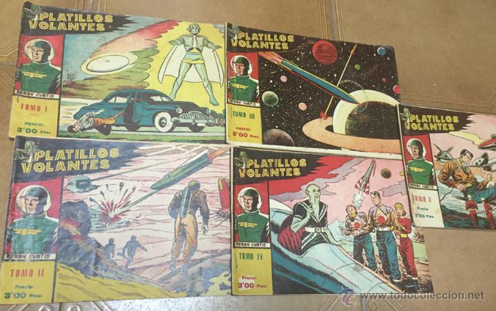 Tebeos: PLATILLOS VOLANTES ORIGINAL EDITORIAL RICART 1955-56, COMPLETA 5 TOMOS CON LOS 15 TEBEOS, EN CADA TO - Foto 2 - 54923804