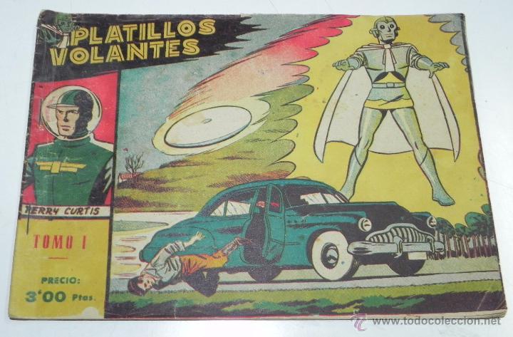 Tebeos: PLATILLOS VOLANTES ORIGINAL EDITORIAL RICART 1955-56, COMPLETA 5 TOMOS CON LOS 15 TEBEOS, EN CADA TO - Foto 3 - 54923804