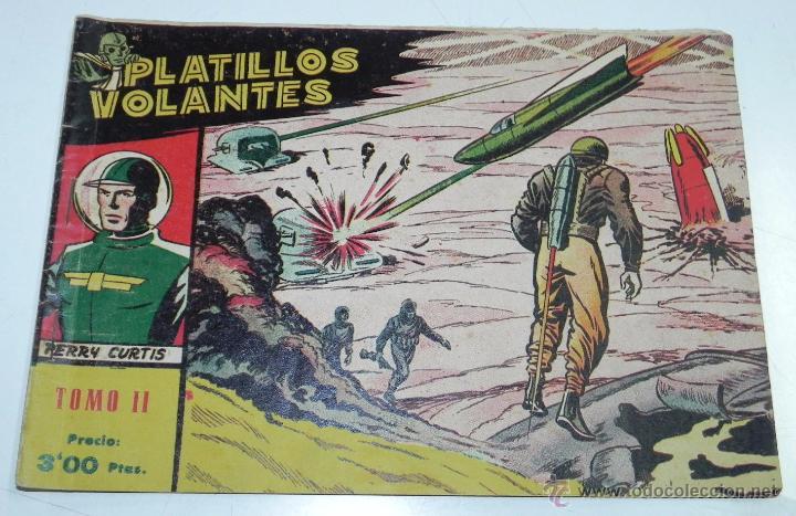 Tebeos: PLATILLOS VOLANTES ORIGINAL EDITORIAL RICART 1955-56, COMPLETA 5 TOMOS CON LOS 15 TEBEOS, EN CADA TO - Foto 4 - 54923804