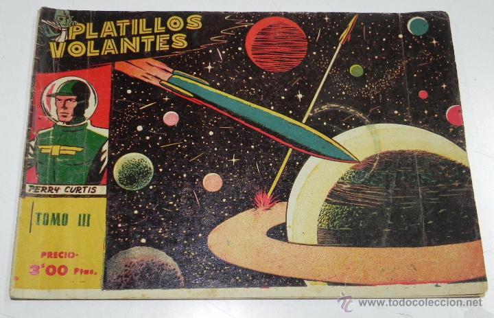 Tebeos: PLATILLOS VOLANTES ORIGINAL EDITORIAL RICART 1955-56, COMPLETA 5 TOMOS CON LOS 15 TEBEOS, EN CADA TO - Foto 5 - 54923804