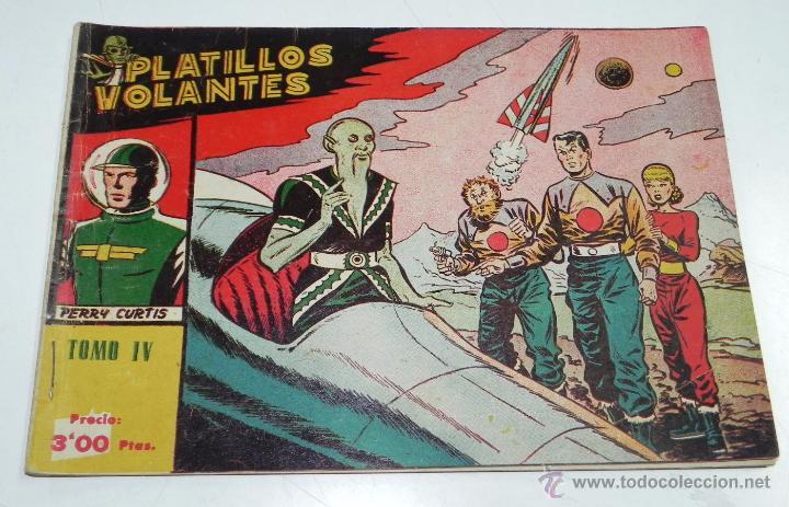 Tebeos: PLATILLOS VOLANTES ORIGINAL EDITORIAL RICART 1955-56, COMPLETA 5 TOMOS CON LOS 15 TEBEOS, EN CADA TO - Foto 6 - 54923804