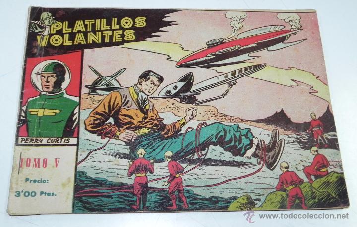 Tebeos: PLATILLOS VOLANTES ORIGINAL EDITORIAL RICART 1955-56, COMPLETA 5 TOMOS CON LOS 15 TEBEOS, EN CADA TO - Foto 7 - 54923804