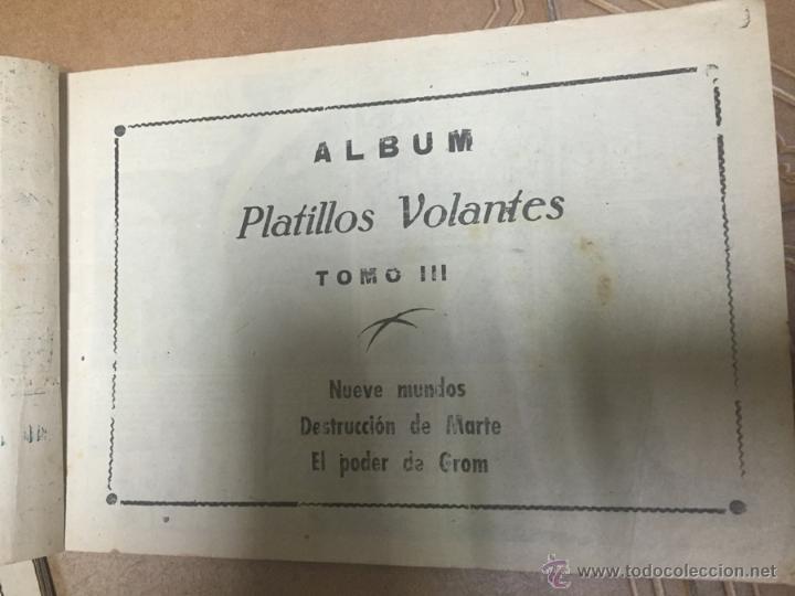 Tebeos: PLATILLOS VOLANTES ORIGINAL EDITORIAL RICART 1955-56, COMPLETA 5 TOMOS CON LOS 15 TEBEOS, EN CADA TO - Foto 11 - 54923804
