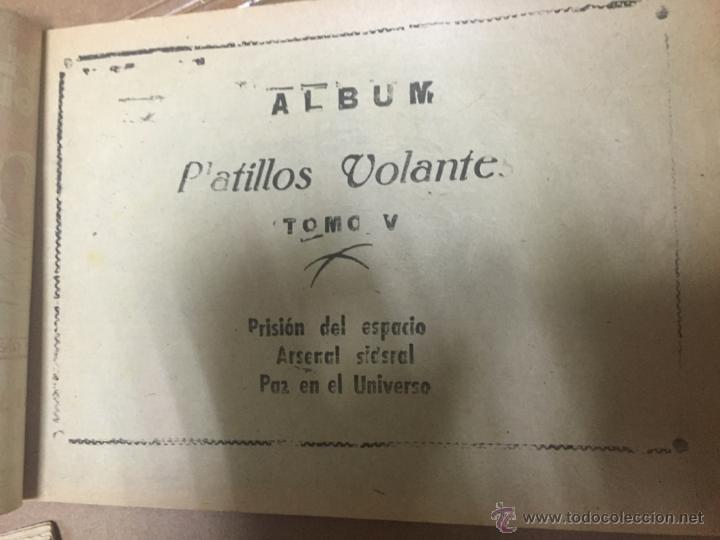 Tebeos: PLATILLOS VOLANTES ORIGINAL EDITORIAL RICART 1955-56, COMPLETA 5 TOMOS CON LOS 15 TEBEOS, EN CADA TO - Foto 12 - 54923804