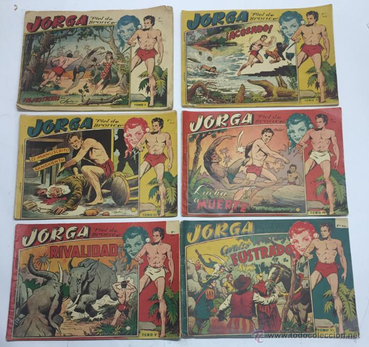 JORGA PIEL DE BRONCE, COLECCION COMPLETA, 6 TOMOS, CON 18 TEBEOS, CADA TOMO LLEVA 3 TEBEOS, BUEN ES (Tebeos y Comics - Ricart - Jorga)