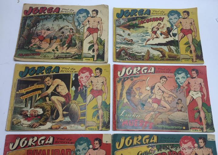 Tebeos: JORGA PIEL DE BRONCE, COLECCION COMPLETA, 6 TOMOS, CON 18 TEBEOS, CADA TOMO LLEVA 3 TEBEOS, BUEN ES - Foto 2 - 54925637