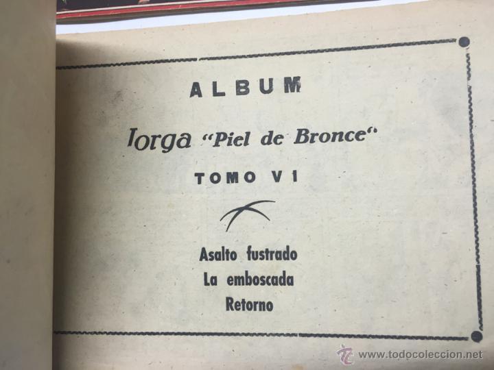 Tebeos: JORGA PIEL DE BRONCE, COLECCION COMPLETA, 6 TOMOS, CON 18 TEBEOS, CADA TOMO LLEVA 3 TEBEOS, BUEN ES - Foto 9 - 54925637