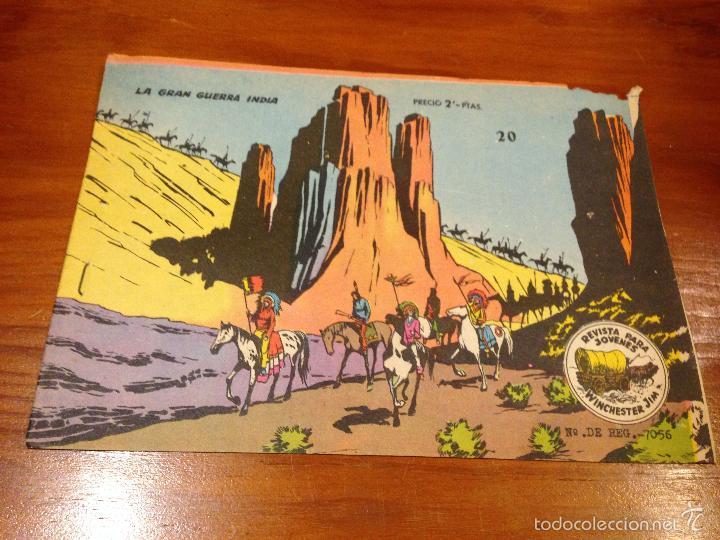WINCHESTER JIM Nº 20. 2 PTS. 1963 EXCLUSIVAS GRAFICAS RICART. (Tebeos y Comics - Ricart - Otros)