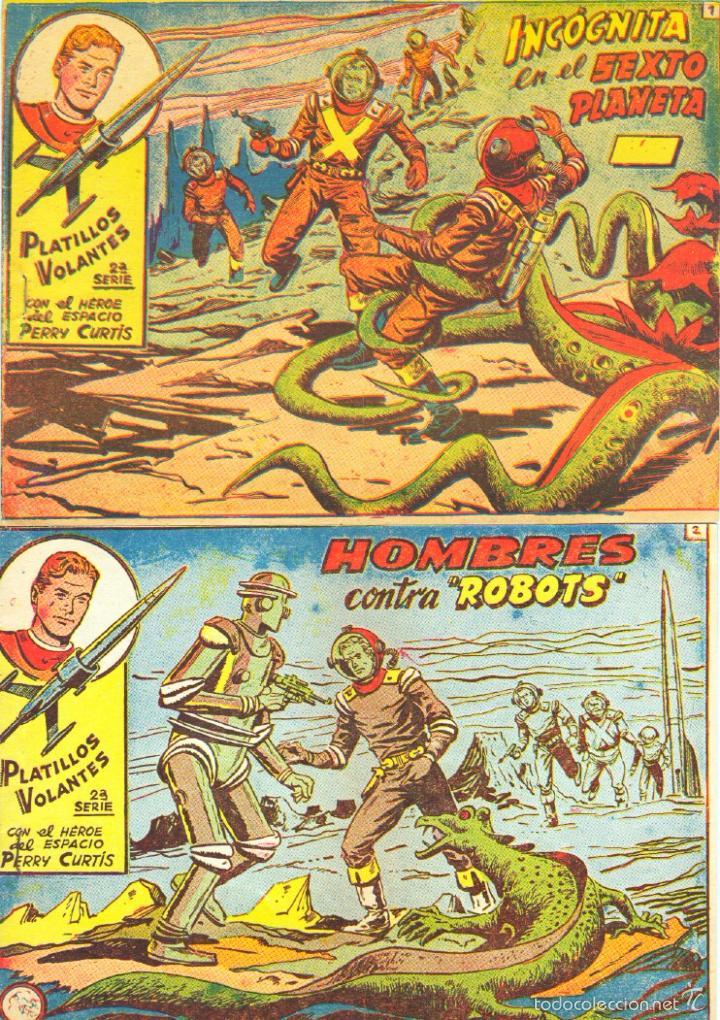 PLATILLOS VOLANTES SERIE PERRY CURTIS HEROE DEL ESPACIO ORIGINAL COMPLETA MUY NUEVA A , VER PORTADAS (Tebeos y Comics - Ricart - Otros)