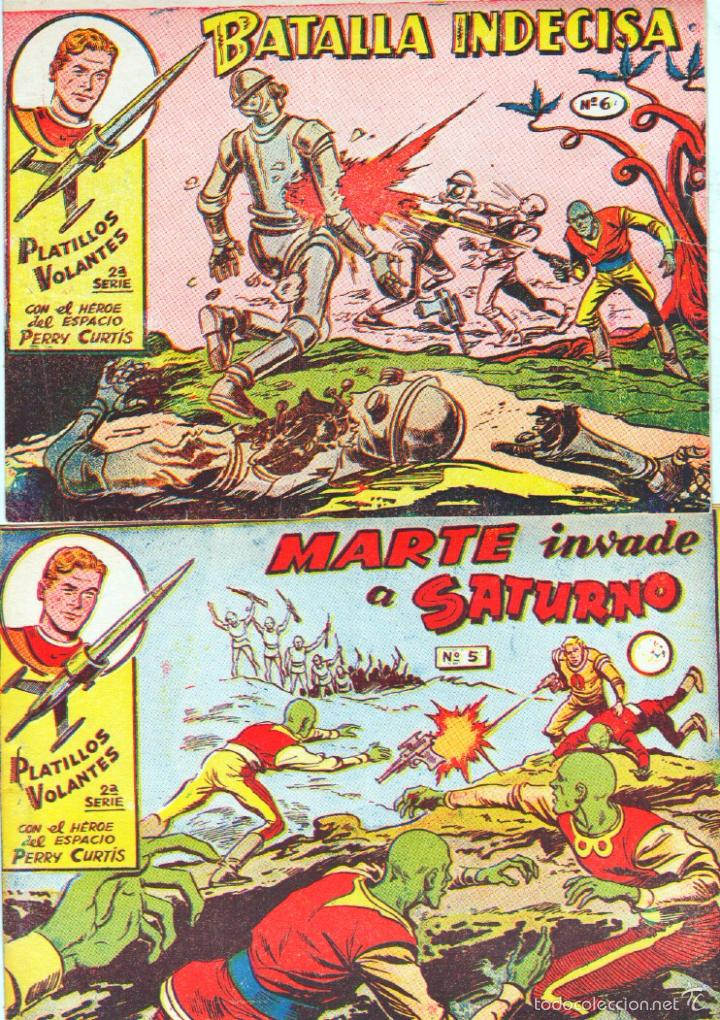 Tebeos: PLATILLOS VOLANTES SERIE PERRY CURTIS HEROE DEL ESPACIO ORIGINAL COMPLETA MUY NUEVA A , VER PORTADAS - Foto 9 - 55993830