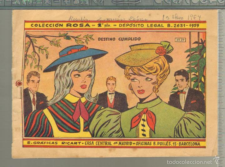 TEBEOS-COMICS GOYO - ROSA - Nº 27 - RICART - 1959 - MUY DIFICIL *UU99 (Tebeos y Comics - Ricart - Otros)