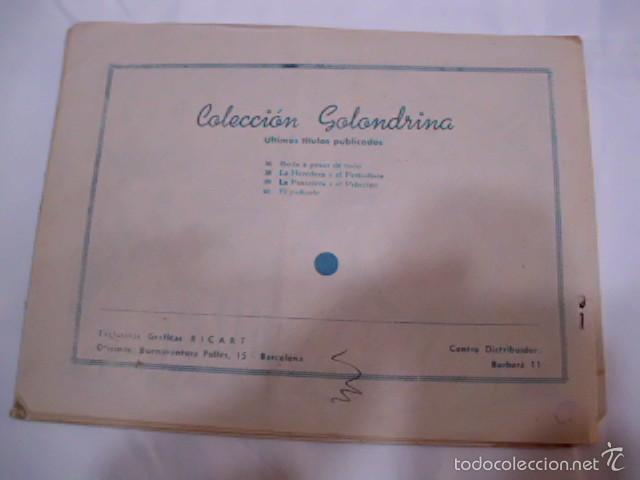 Tebeos: CUANDO TODO ERA BONITO - LOTE DE DOS TEBEOS COLECCIÓN GOLONDRINA - AÑOS 50 - Foto 3 - 57693580