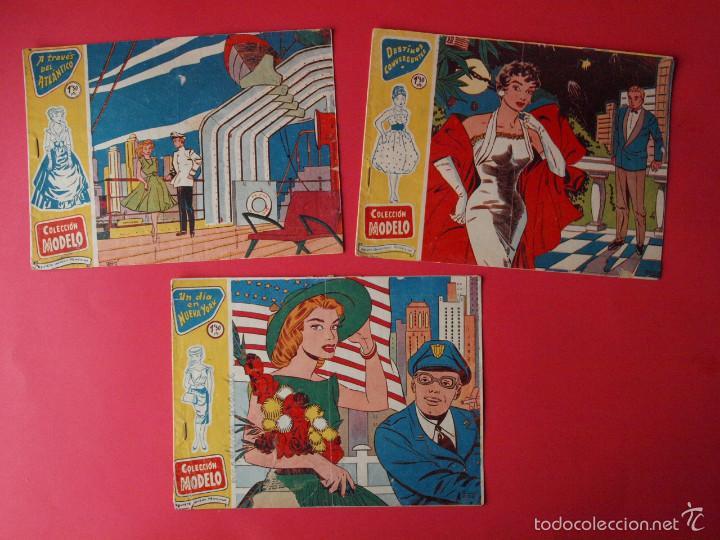 3 TEBEOS COLECCIÓN MODELO, EXCLUSIVAS GRÁFICAS RICART, BARCELONA, 1958 - Nº 1, 4 Y 7 (Tebeos y Comics - Ricart - Modelo)