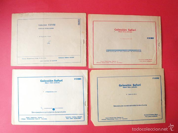 Tebeos: 4 TEBEOS COLECCIÓN SAFARI, EXCLUSIVAS GRÁFICAS RICART, BARCELONA 1965 - Nº 5, 6, 7 Y 8 - Foto 2 - 58010030