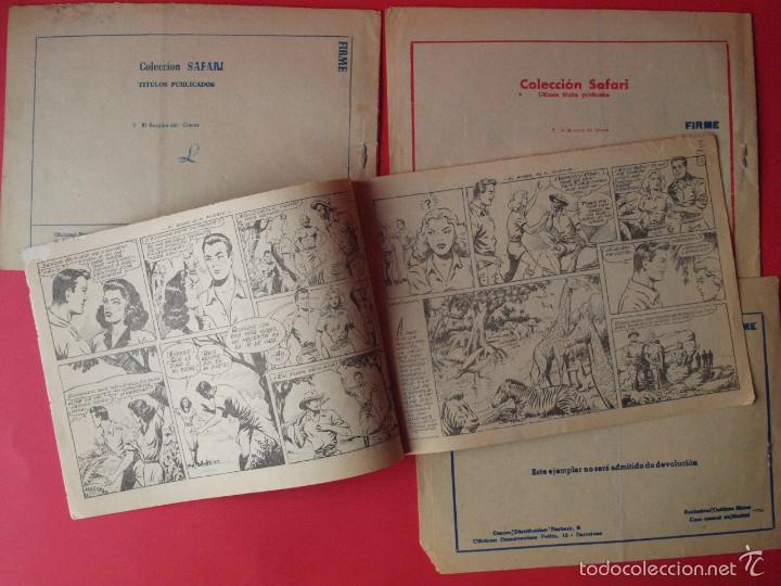 Tebeos: 4 TEBEOS COLECCIÓN SAFARI, EXCLUSIVAS GRÁFICAS RICART, BARCELONA 1965 - Nº 5, 6, 7 Y 8 - Foto 3 - 58010030